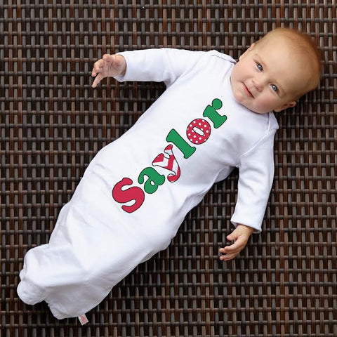 Christmas Name Layette