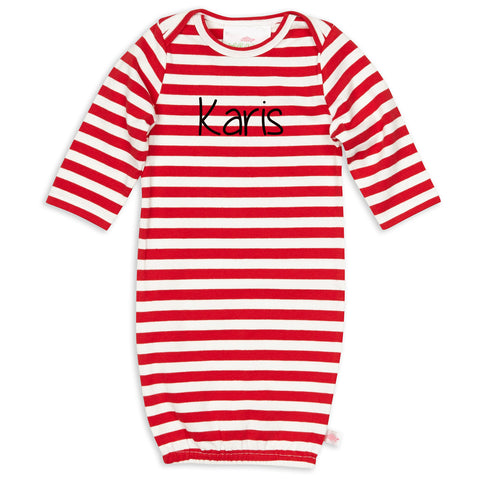 Red Stripe Onesie Gown