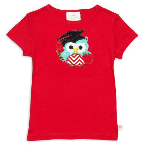 Girls Red Fitted Tee