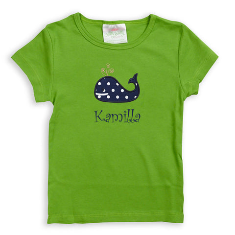 Girls Green Fitted Tee