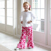 Girls Hot Pink Lattice Minky Pant