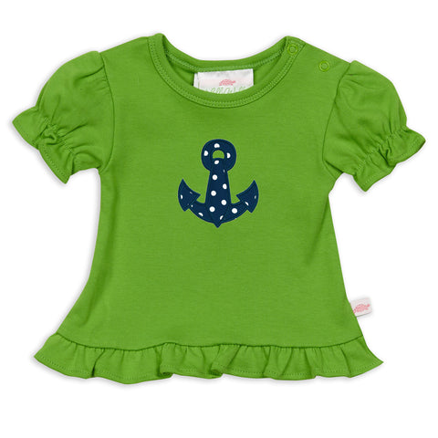 Apple Green Ruffle Top