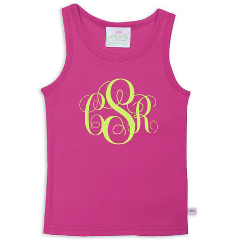 Fuschia Initials Tank Top
