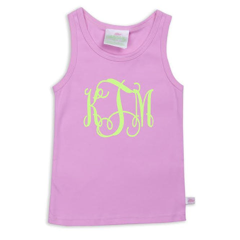 Candy Pink Initials Tank Top