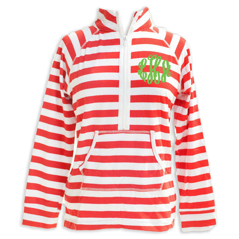 Red Stripe Pullover