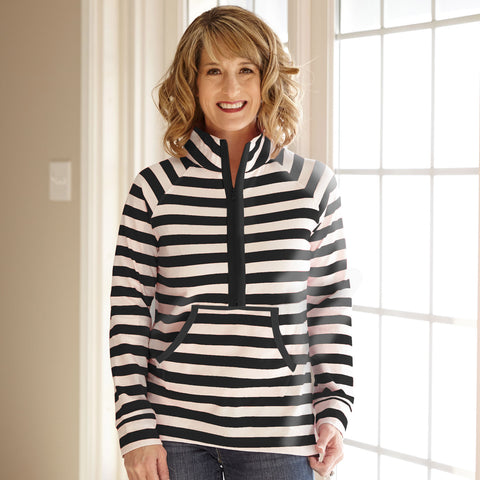 Black Stripe Pullover