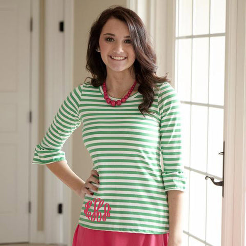 Green Stripe Top