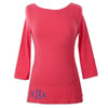 Fuschia Boatneck Top