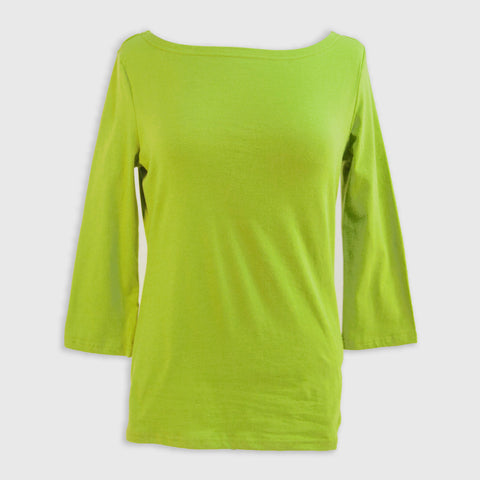 Apple Green Boatneck Top