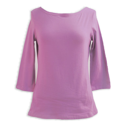 Mauve Boatneck Top