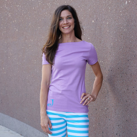 Lavender Boatneck Top