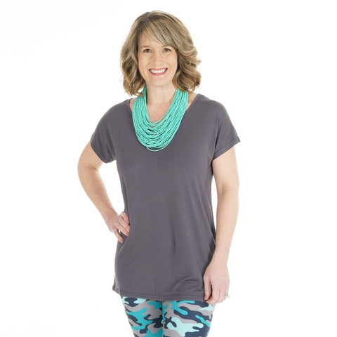 Charcoal Ivy Top