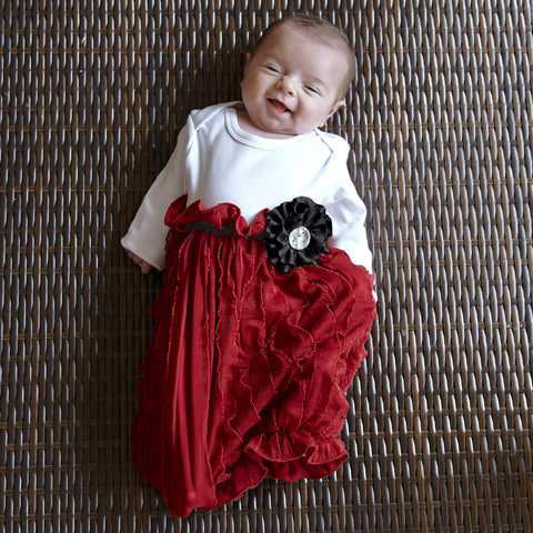 Baby Girls White Ruby Red Layette