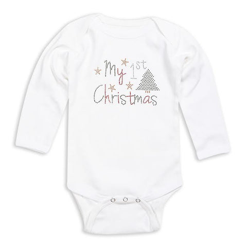 First Christmas Bling Onesie