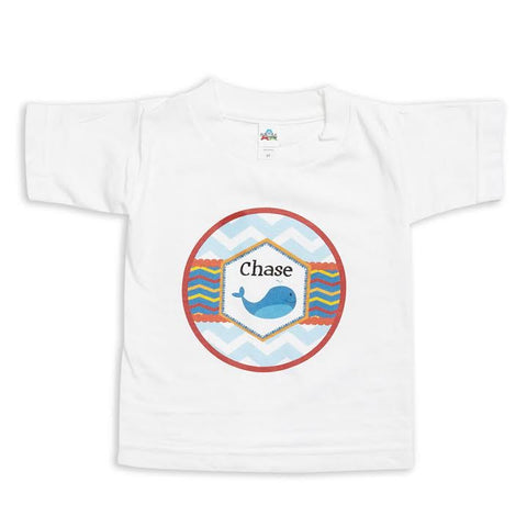 Chevron Whale Name Tee
