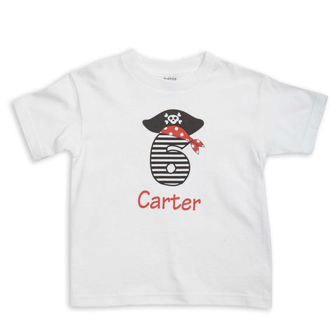 Pirate Age Stripe Name Tee