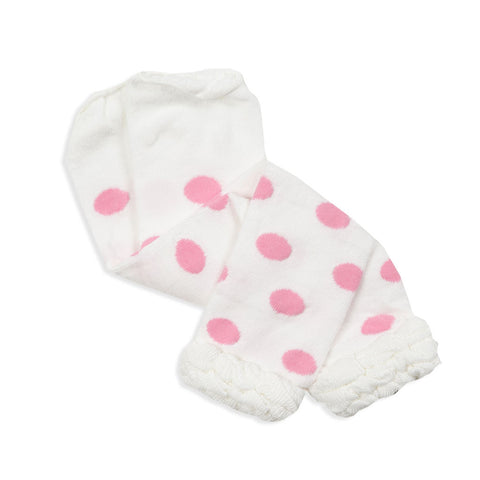 Light Pink Dot Ruffle Footless Tights
