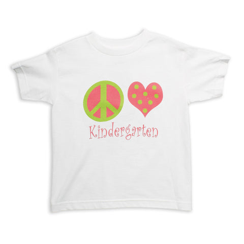 Pink Green Peace Love Grade Tee