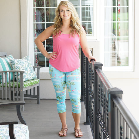 Ladies Flamingo Arden Capri Leggings