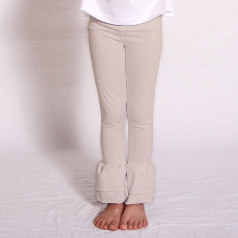 Girls Sand Ruffle Leggings