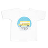 School Bus Print Name Shirt