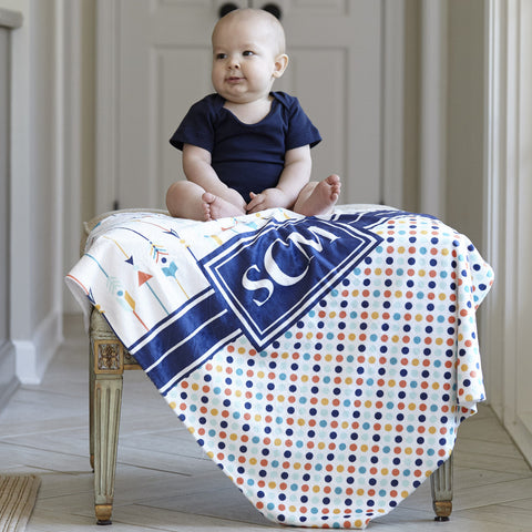 Arrow Dot Initial Blanket