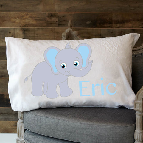 Elephant Name Minky Pillowcase