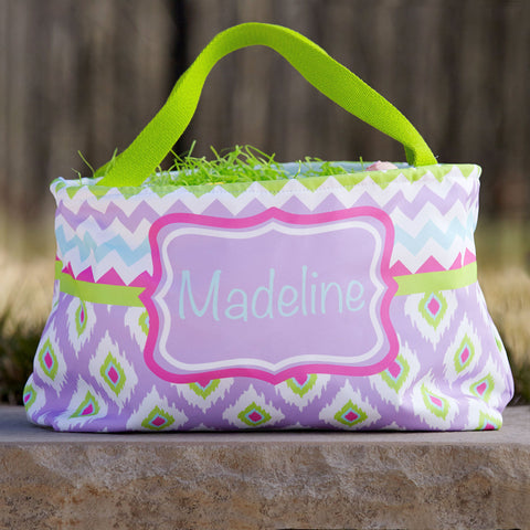 Ikat Name Easter Basket