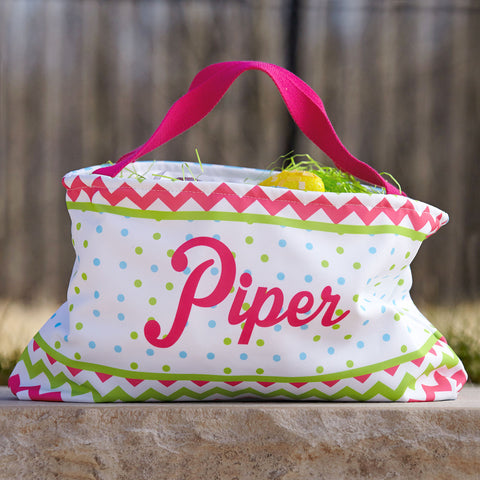 Bright Dot Name Easter Basket