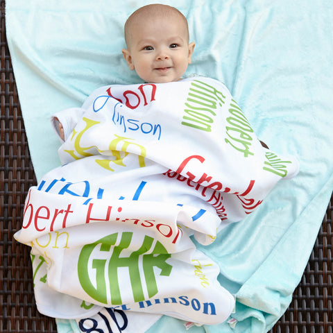 New Light Weight Boys Name Blanket