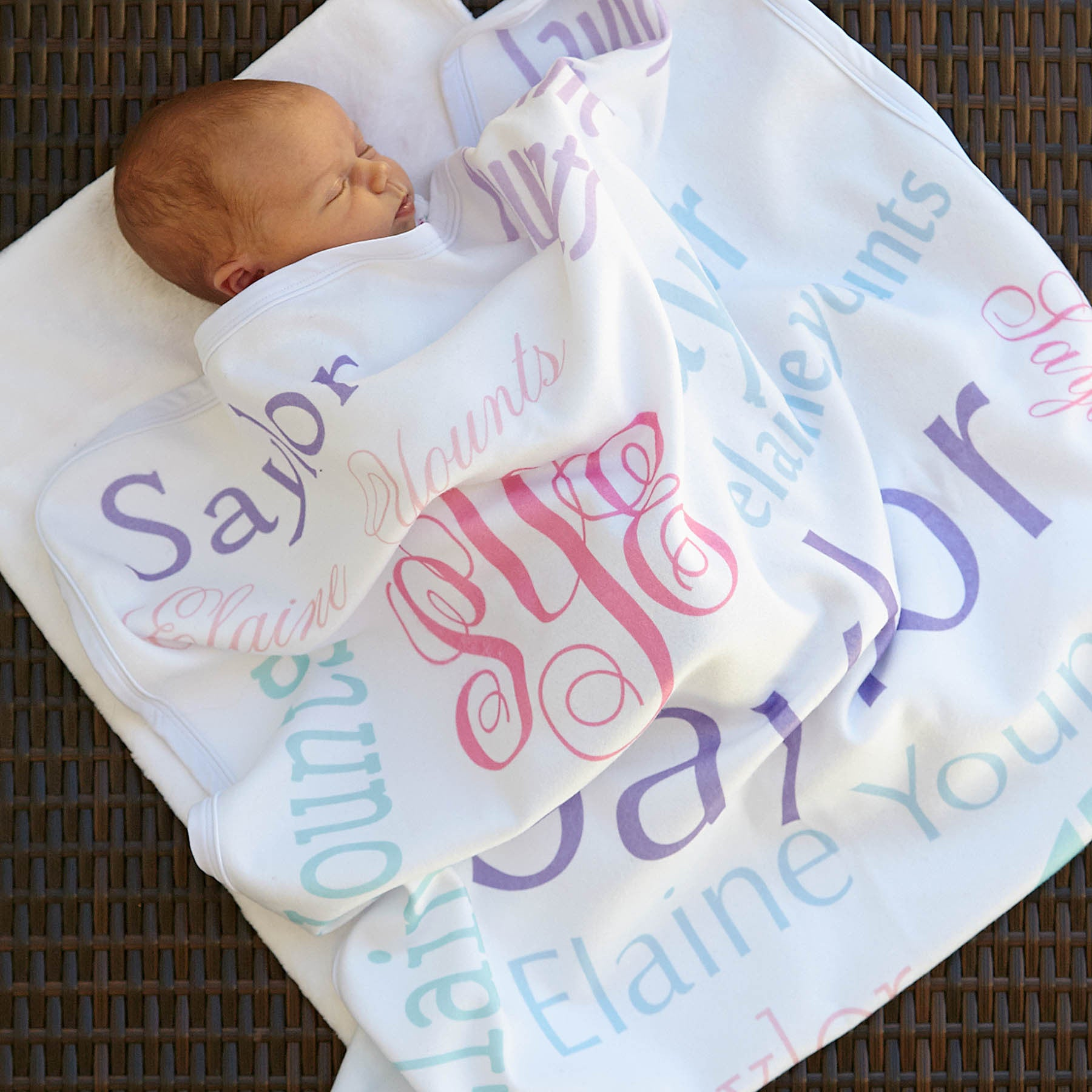 Personalized trendy styles for ladies girls babies lolly girls name blanket negle Image collections