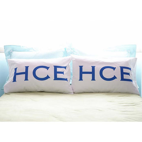 Royal Blue Monogrammed Pillow Case with 3 Initials