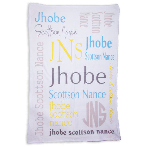 Boys Name Blanket