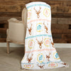 Deer Initial Throw Blanket