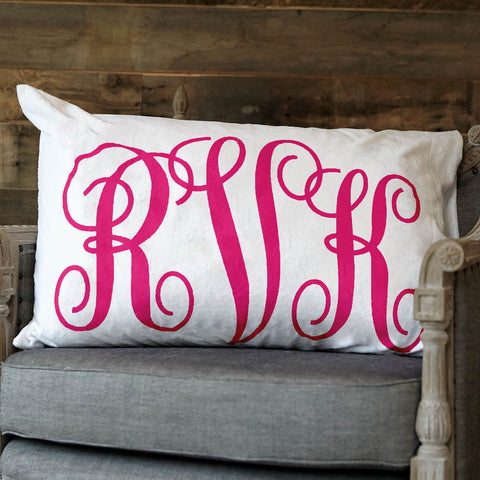 Minky Initial Pillowcase
