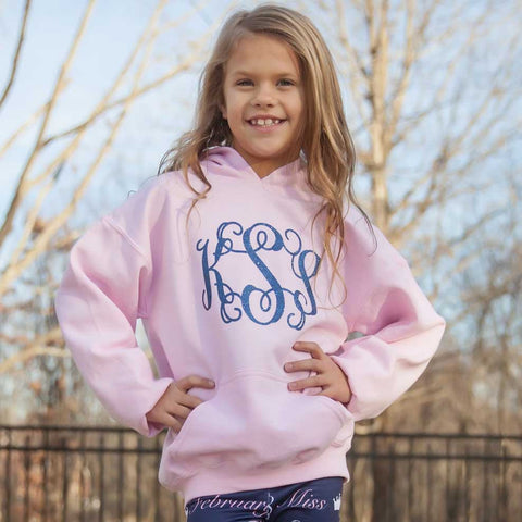 Light Pink Initial Sweatshirt