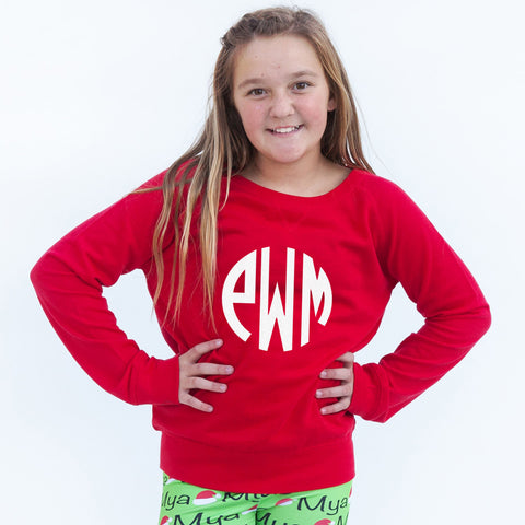 Red Initial Pullover