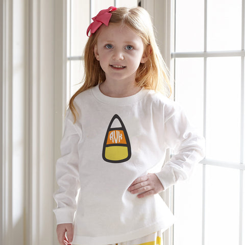 Candy Corn Initials Tee