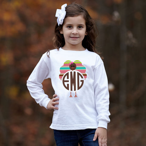 Turkey Bright Stripe Initials Tee