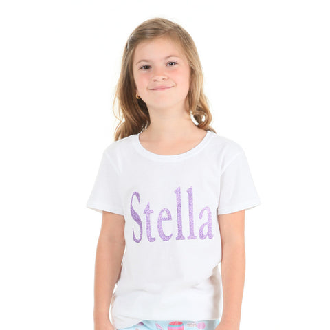 White Lavender Name Tee