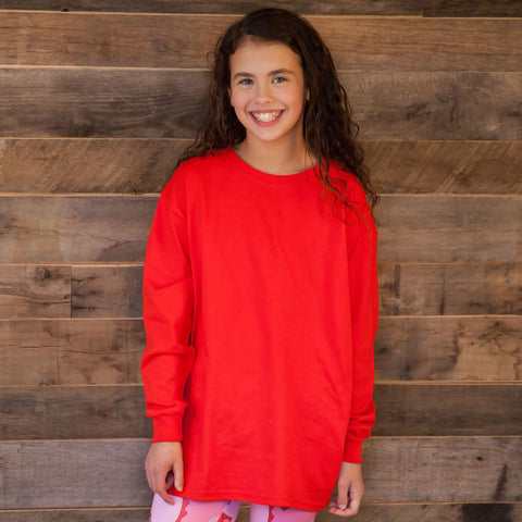 Red Initial Tee
