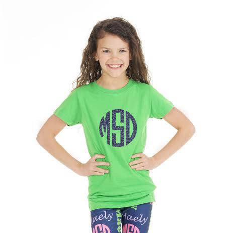 Apple Green Initials Tee