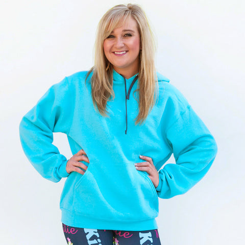 Aqua Hooded Sweatshirt