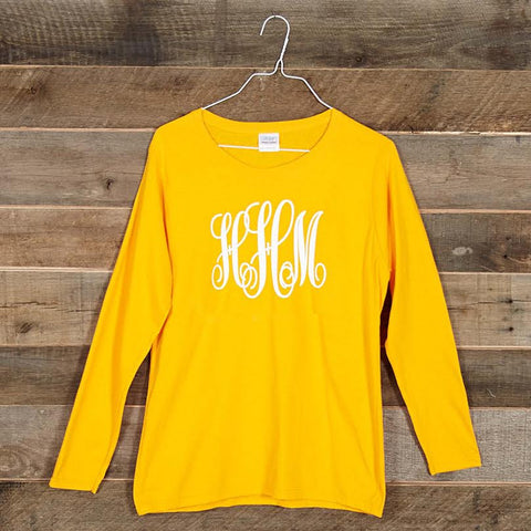 Yelllow Initials Tee