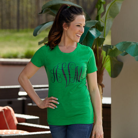Kelly Green Initial Tee