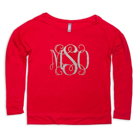 Ladies Red Tee Initials