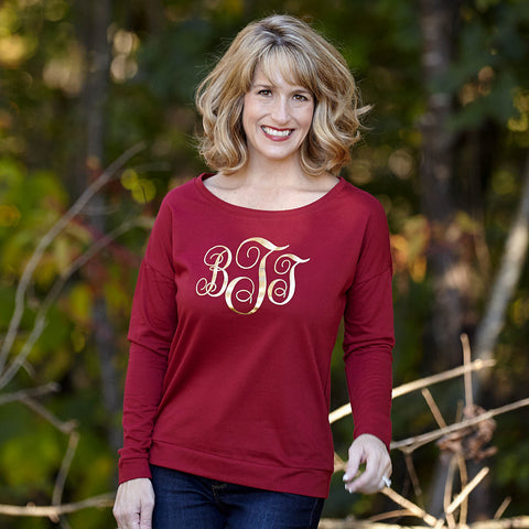 Scarlett Scoop Neck Initial Tee