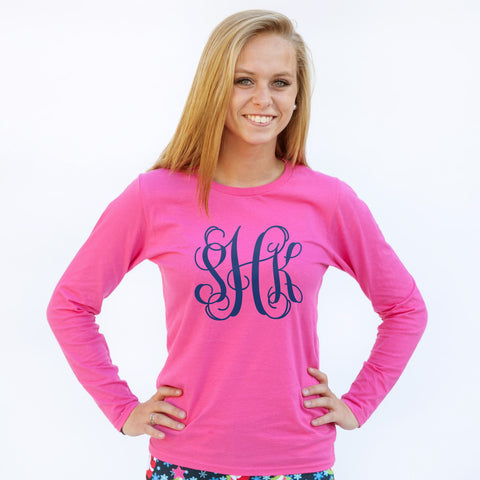 Pink Initial Tee