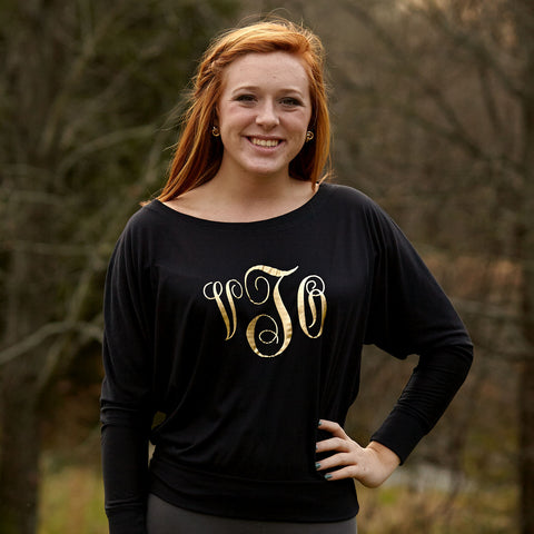 Ladies Dolman Initial Tee