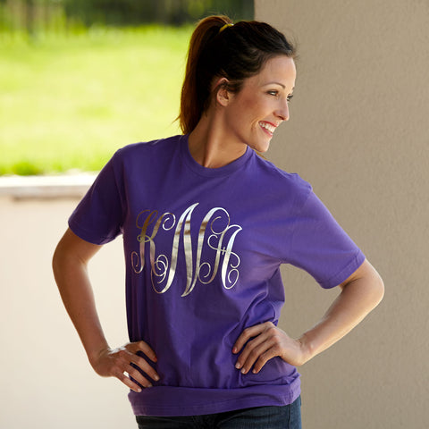 Purple Tee Initials